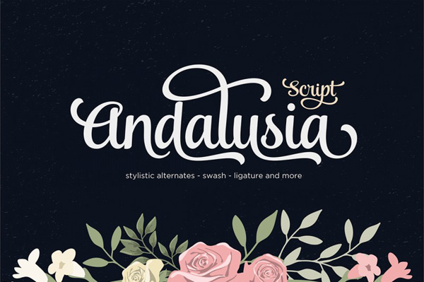 Andalusia is a Romantic Typefaces