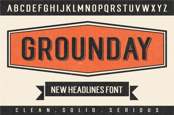 Grounday is highly legible sans typeface