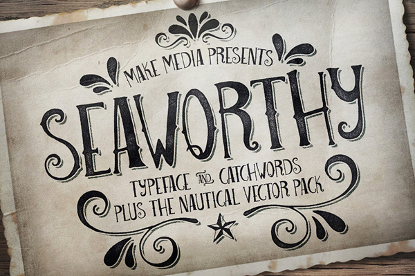 Seaworthy Typeface & Nautical Pack