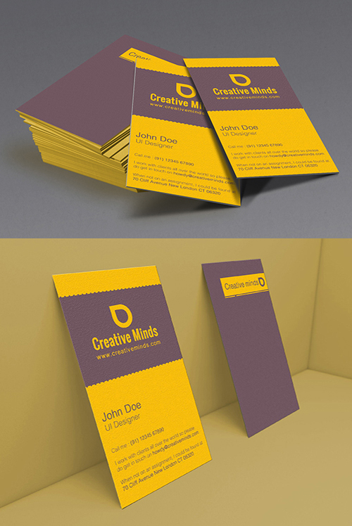 Artistic Simple Vertical Business Card