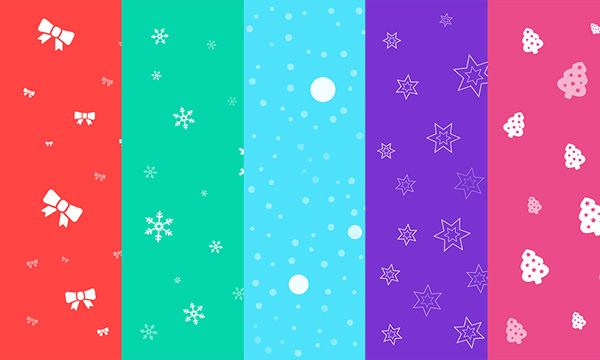 Download 5 Seamless Christmas Backgrounds