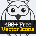 Post Thumbnail of 400+ Free Vector Icons for Designers