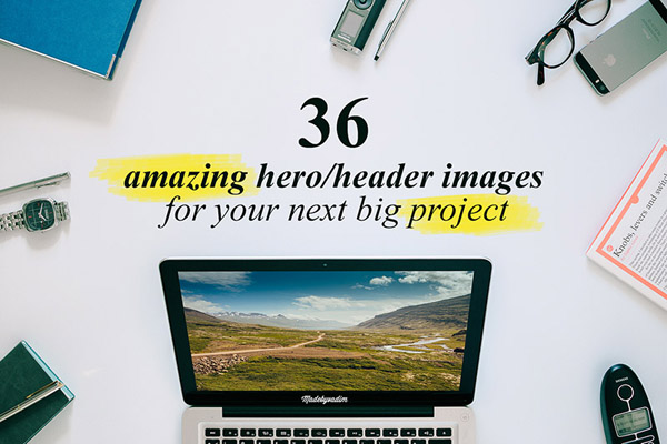 Amazing Header/hero images and mockups