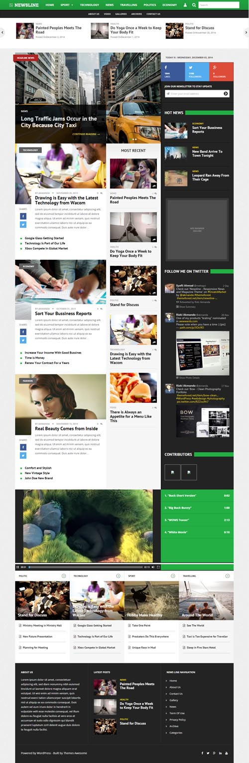Newsline - Responsive News and Magazine Theme