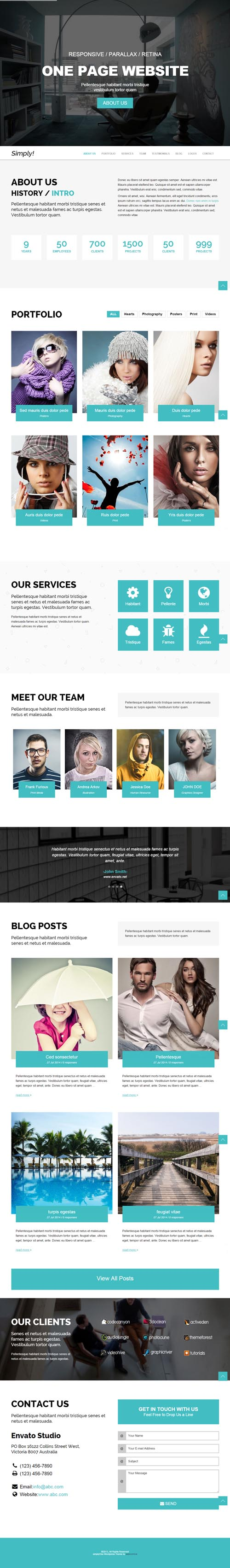 SimplyOne - One Page Responsive WordPress Theme