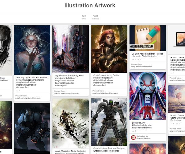 26 Top Digital Art & Illustrations Boards To Follow on Pinterest - 26
