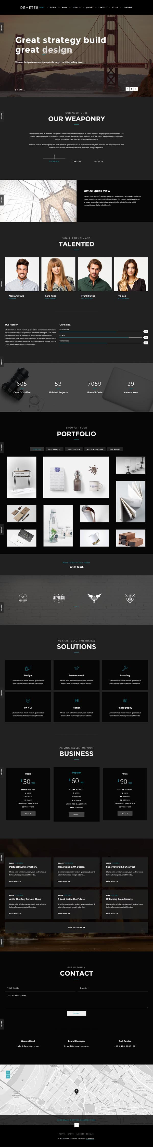 New Responsive HTML5 Website Templates | Design | Graphic Design ...