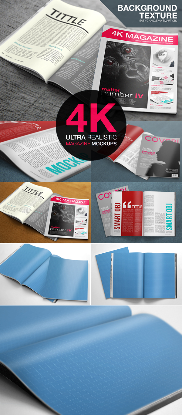 Free download magazine mockup psd
