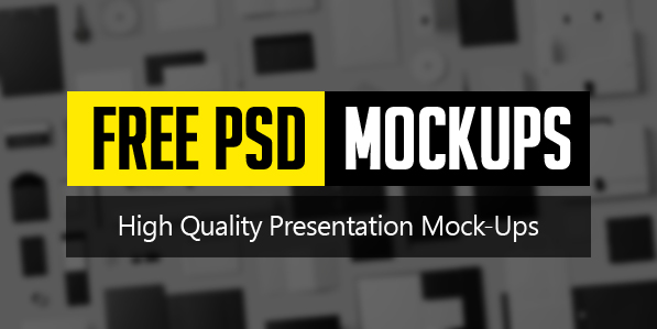 New Free Photoshop PSD Mockups for Designers (26 MockUps)