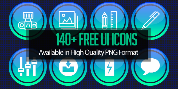 140 Free UI Icons for Dashboard UI Design