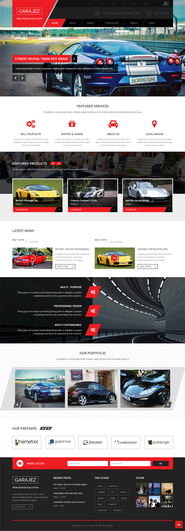 Garajez - Multi Purpose WordPress Theme