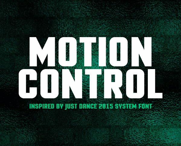 Motion Control Free Font
