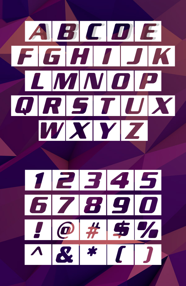 New Space Font Letters