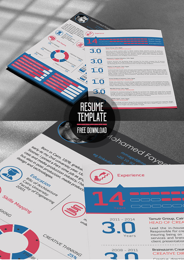 Free Modern Resume Templates & Psd Mockups | Freebies | Graphic