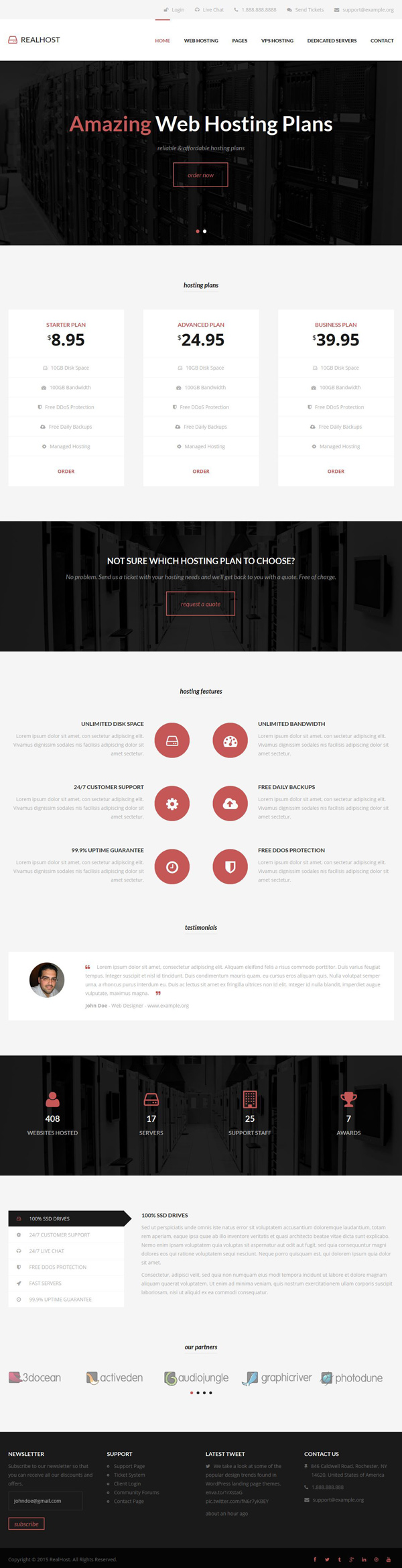 RealHost - Responsive HTML5 Hosting Template