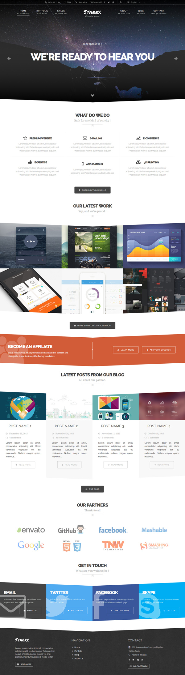 Starry - Creative & Easy WordPress theme