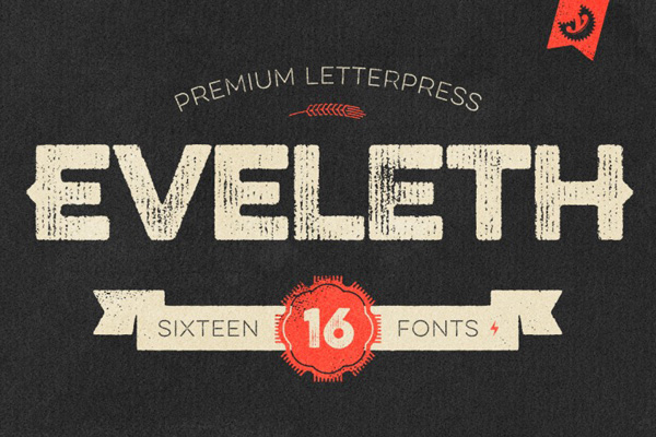 Eveleth – Premium Letterpress Fonts