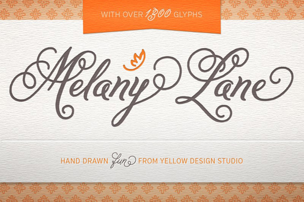 Melany Lane Fonts