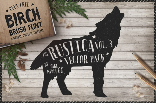 Birch Brush Font