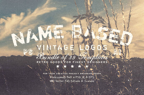 NameBased Vintage Logos Bundle