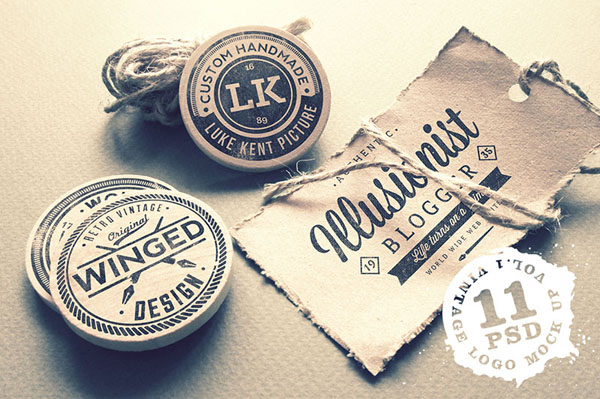 Vintage Logo Mock Up Set