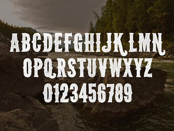 Wild Spaces Font Letters
