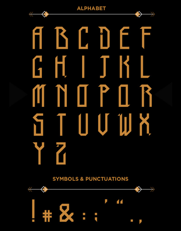 TRIBO Font Letters