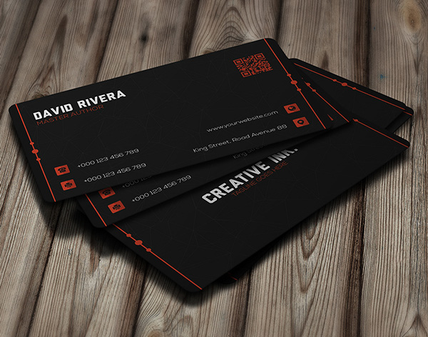 Black Modern Corporate Business Card