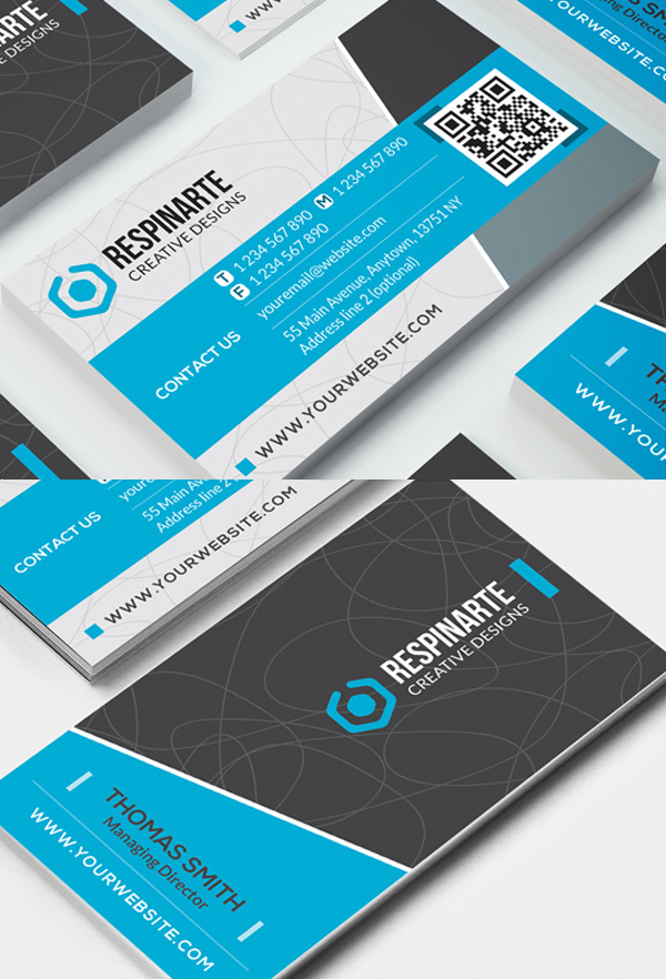 28 creative corporate business cards design design graphic blue corporate business card reheart Gallery