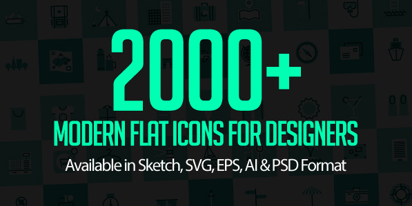 2000+ Modern Flat Icons & Vector Shapes for Designers