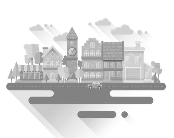 How to Create a Flat Grayscale Cityscape in Adobe Illustrator