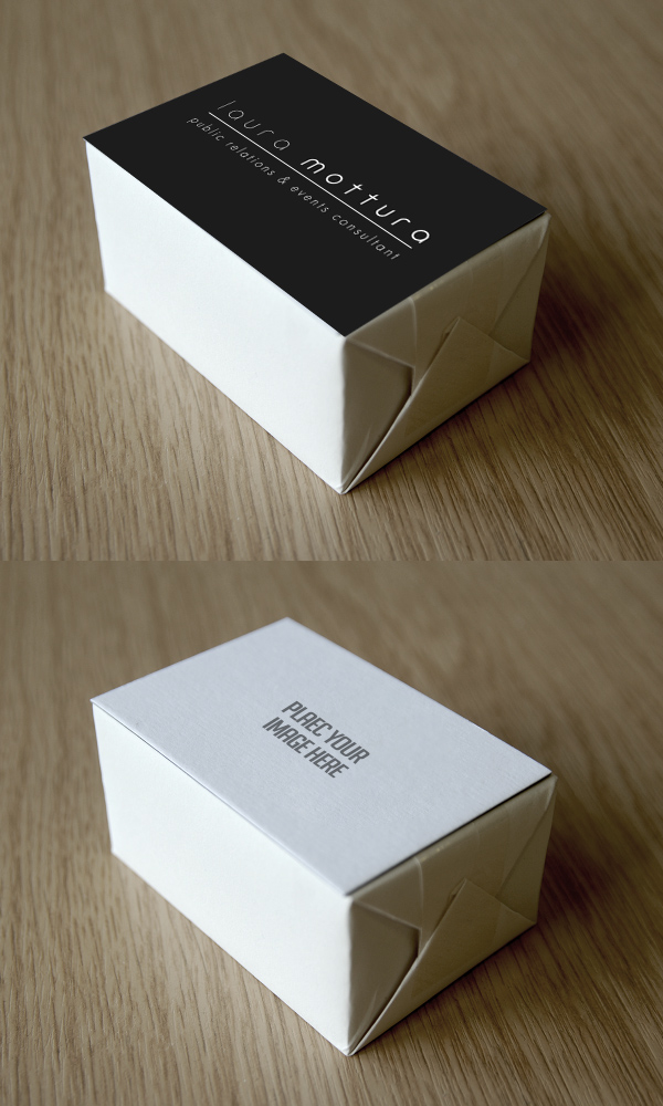 Free Business Card Block Mockup