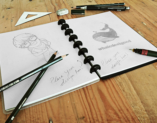Free Sketch Book Mockup PSD
