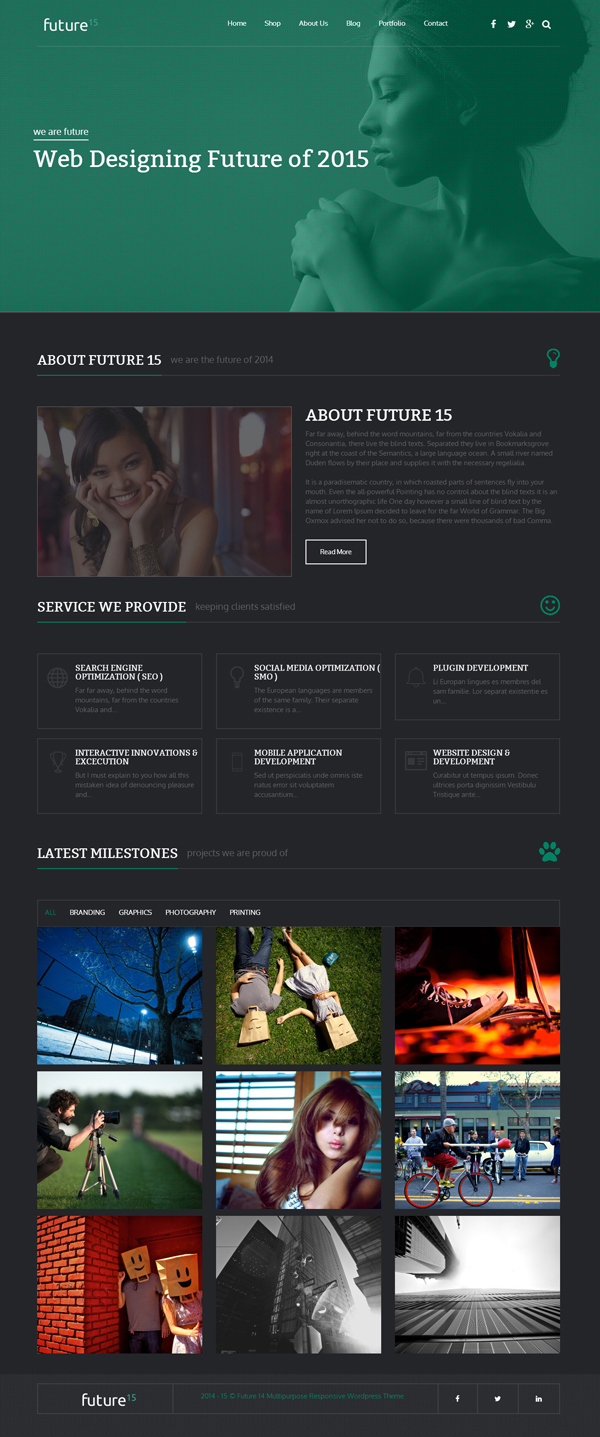 Future15 - Multipurpose WordPress Theme