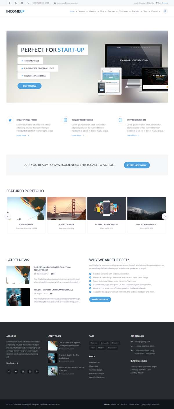 IncomeUp | Multi-purpose Business HTML Template