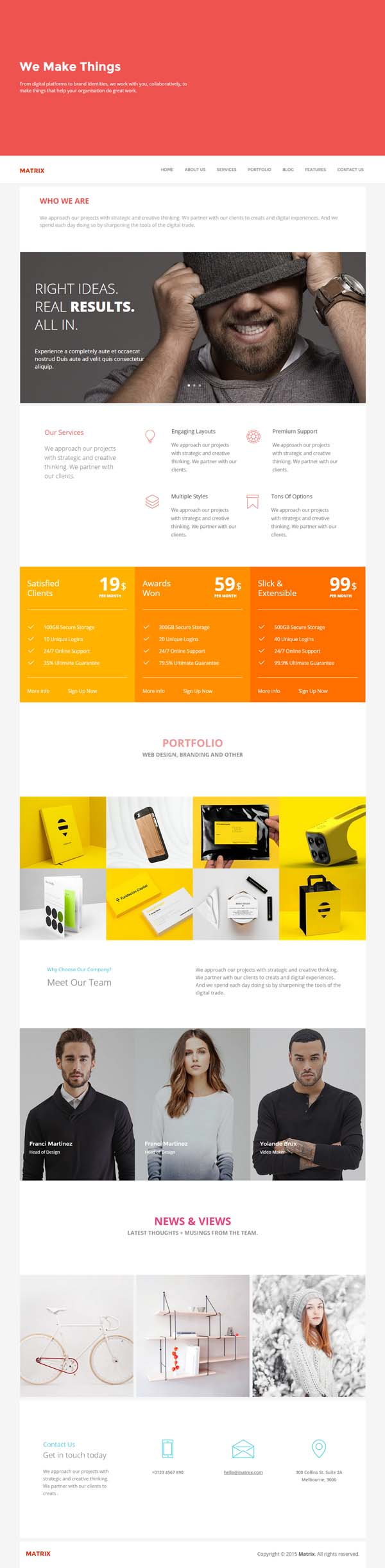 Matrix - Multipurpose Page Template
