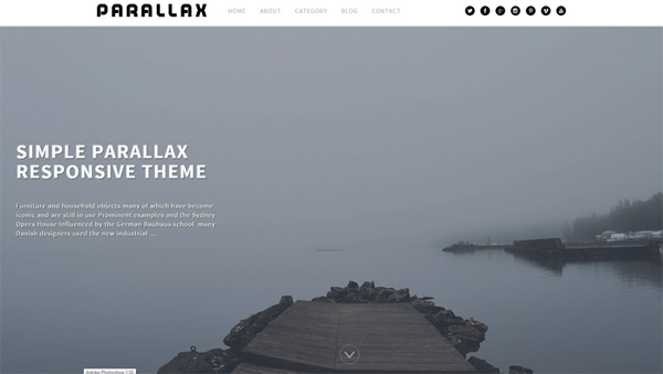 Parallax modern and appealing parallax scrolling WP template