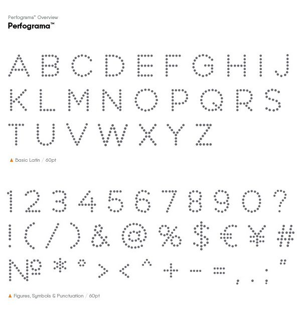 Perfograma Font Letters