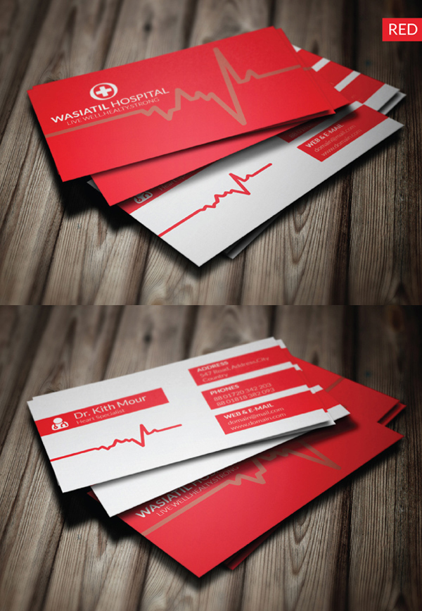 Business cards psd templates design graphic design junction doctor business card colourmoves