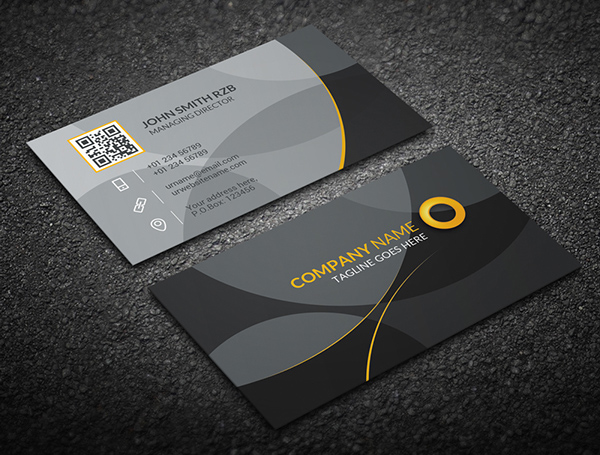 Gray Corporate Business Card