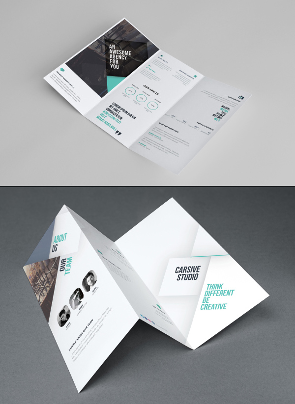 Free Branding PSD Mockups For Designers Freebies Graphic - Tri fold business card template