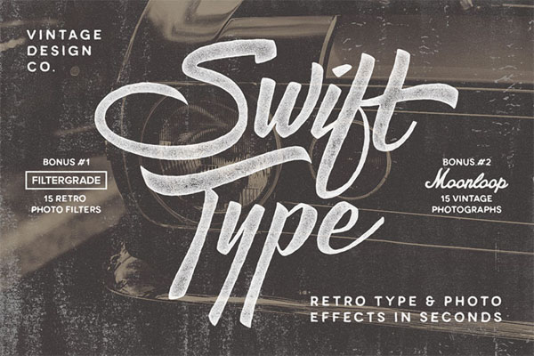 SwiftType. Retro Type & Photo PSD