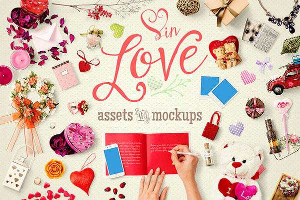 In Love Assets & Mock Ups