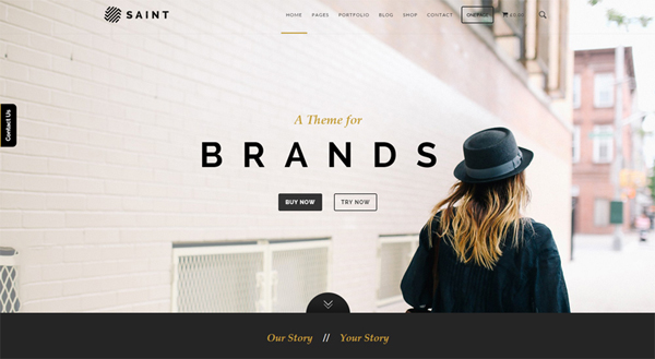 Saint one-page multi-purpose WordPress theme