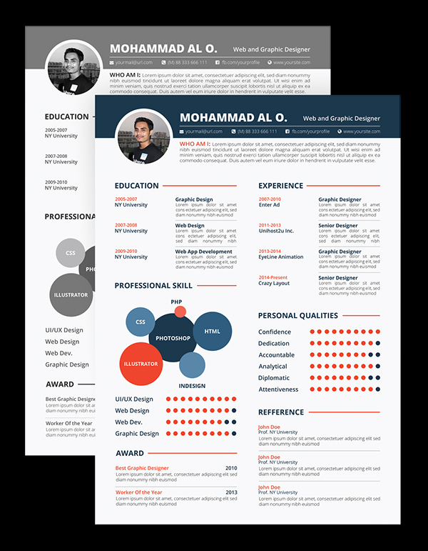 free graphic designer resume templates word template print ready design visual cv infographic powerpoint