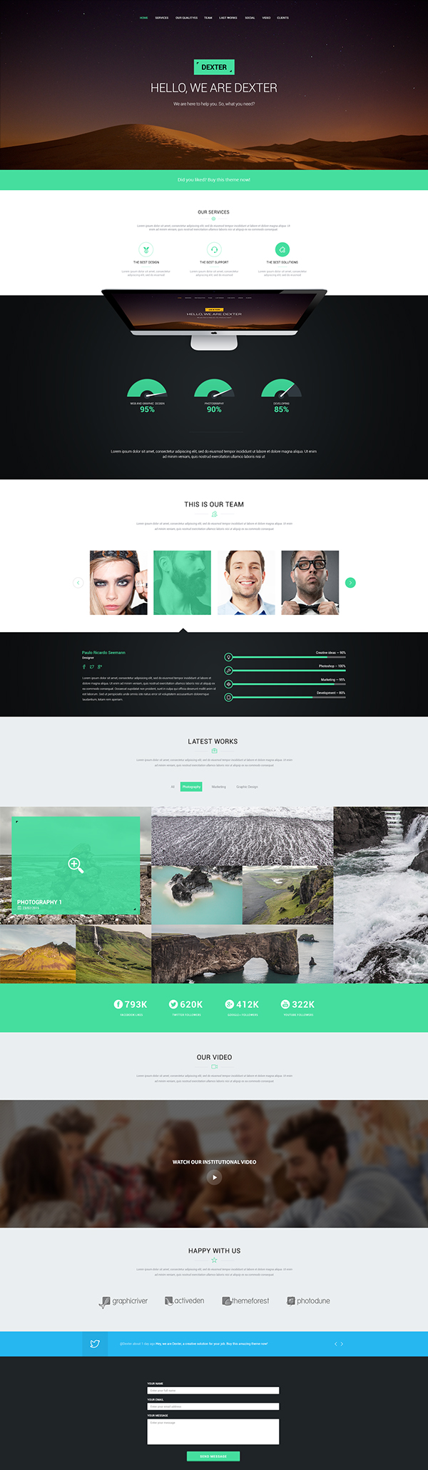 Free Responsive PSD Template