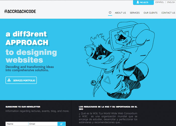 Inspiring Examples of HTML5 Websites Design - 27