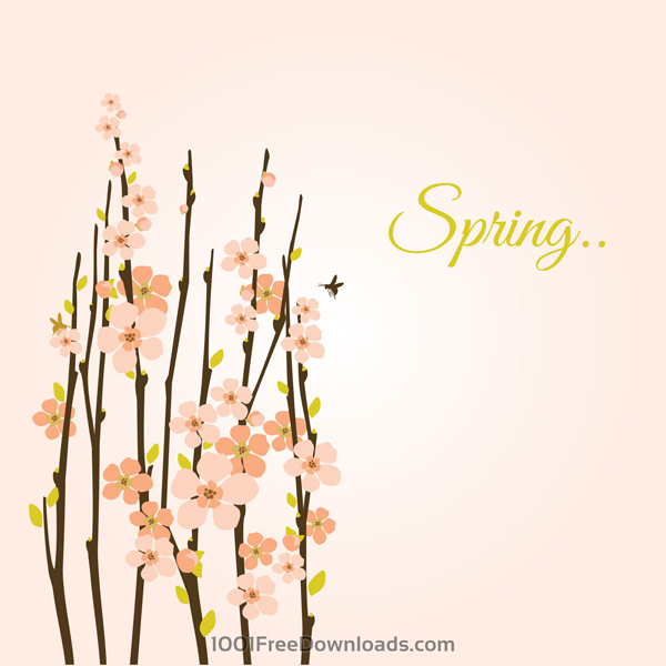 Free Download Vector Spring Background