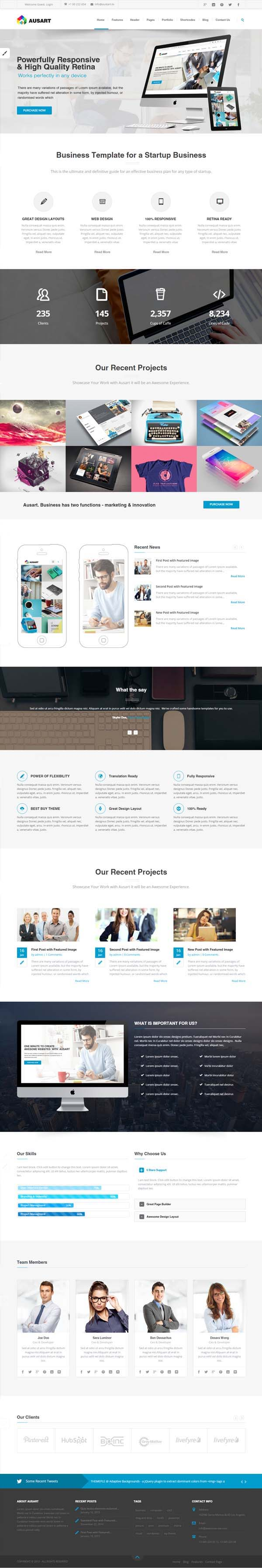 Ausart : Premium Multi-Purpose Business Theme