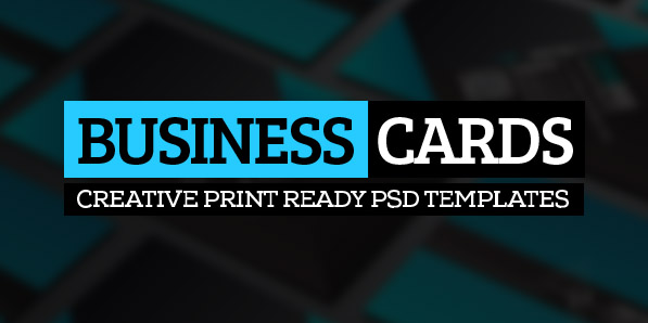 26 Modern Business Cards PSD Templates (Print Ready)